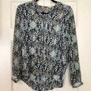 Vintage Nine-west abstract patterned shirt in XS.
